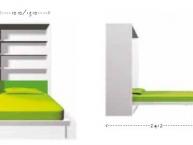 Misure-mobile-e-scrivania-trasformabili-letto singolo-clei-ALBC-01