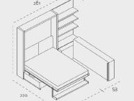misure-divano-trasformabile-letto-matrimoniale-clei-ATOLL202-02