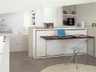 Sistema trasformabile letto singolo e tavolo - tavolo aperto