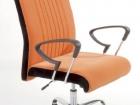 sedia per ufficio in tessuto arancione