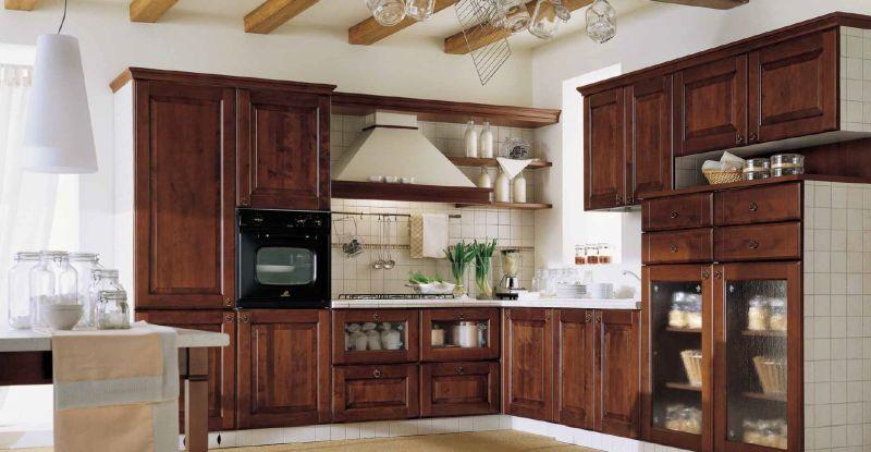 cucina tradizionale, cucina in legno