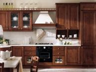 cucina classica in legno (composizione lineare)