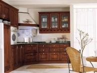 cucina classica in legno (composizione angolare)