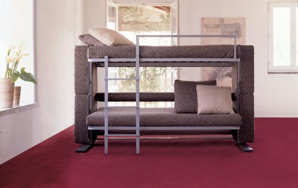 Divano trasformabile letto a castello clei docxl for Divano trasformabile