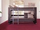 Divano trasformabile in letto a castello - aperto