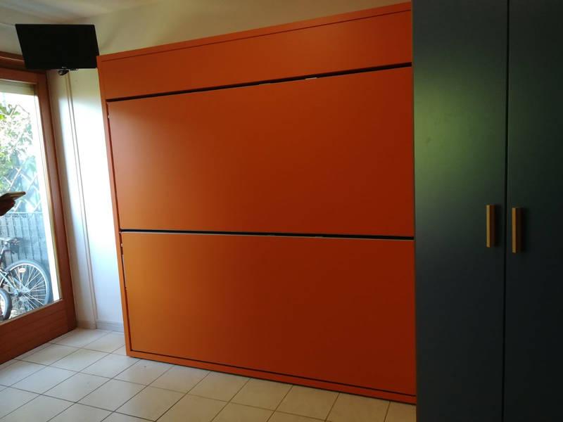 2 letti in 35cm in una cameretta per ragazzi a Trento