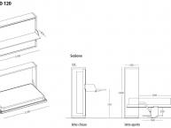 misure letto trasformabile con scrivania kali board clei