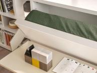 dettaglio apertura letto singolo a scomparsa con scrivania Kali Board CLEI