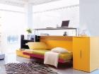 mobile e scrivania trasformabili in letto singolo