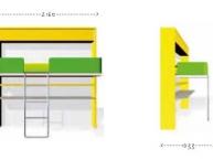 Misure-scrivania-trasformabile-letto-singolo-clei-LLF4-01