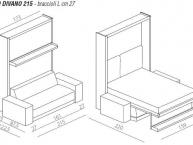misure letto a scomparsa con divano olso divano 215