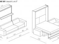 misure letto a scomparsa con divano oslo divano 301