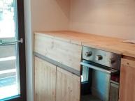 Cucina a scomparsa su misura legno massiccio