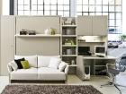 mobile trasformabile divano - letto matrimoniale e scrivania