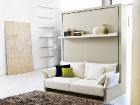 mobile trasformabile divano - letto matrimoniale e mensola