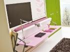 scrivania trasformabile letto singolo - in apertura