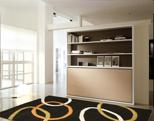 libreria trasformabile, arredamento soggiorno, letto a ...