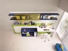 scrivania e mobile trasformabili letto singolo