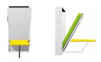 Mobile trasformabile letto singolo verticale letto rete for Mobile con scrivania