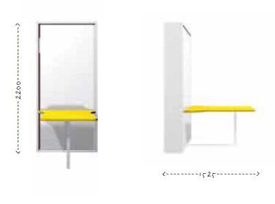 mobile trasformabile, letto singolo verticale, letto rete a doghe ...