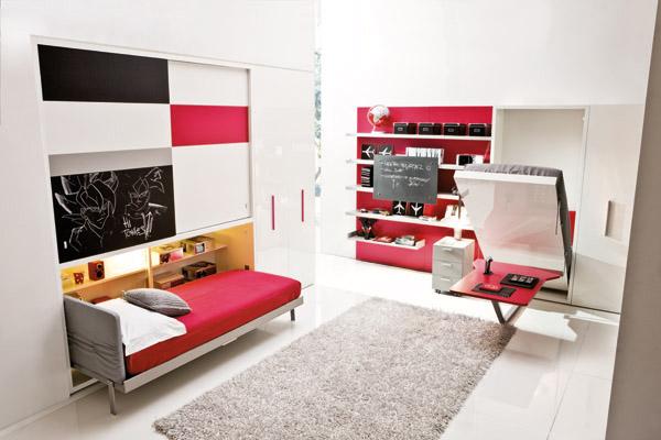 mobile trasformabile, letto singolo verticale, letto rete a ...