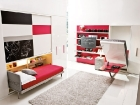 tavolo trasformabile letto singolo - in apertura