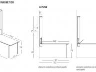 misure tavolo trasformabile wally schienale magnetico